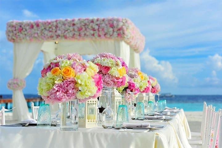 Colourful Outdoor Wedding