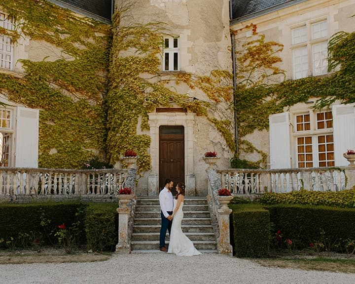 Couple At Their Wedding Venue