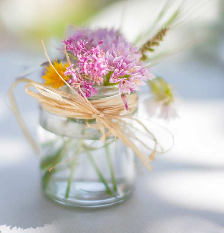 Freshly Picked Flowers For A Wedding